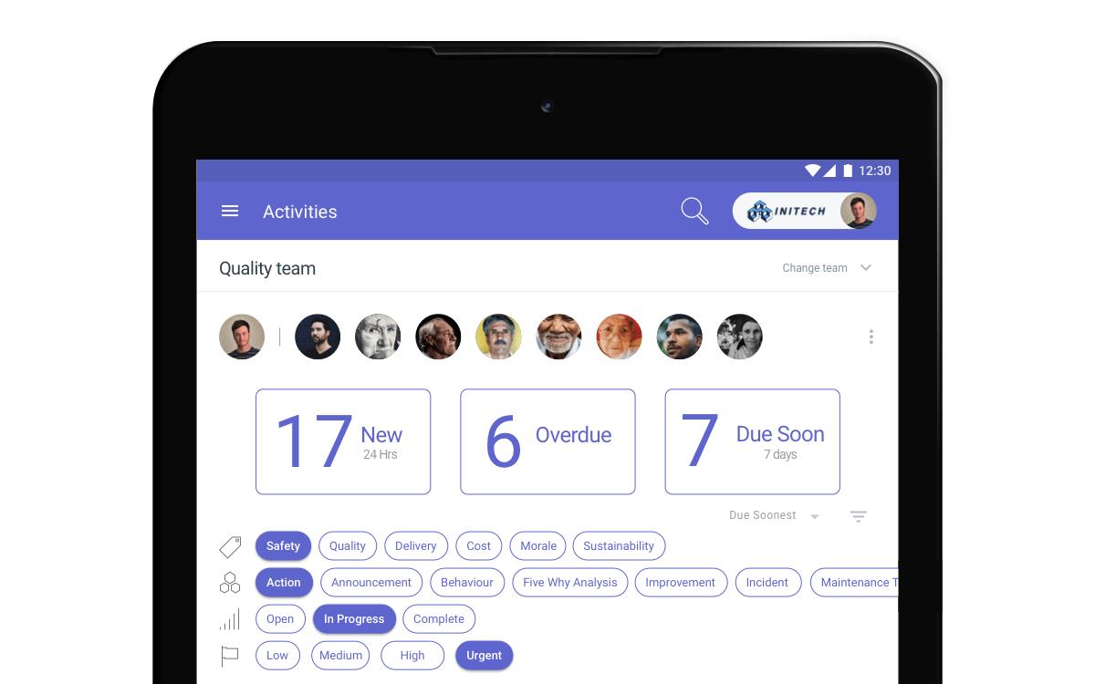 Screenshot of the TeamAssurance Activity module